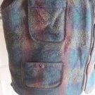 Vintage EMS Wool Lumberjack Plaid Hunting Zip Up Front Vest Mens XL USA Colorful
