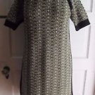 Womens Hobbs NW3 100% Wool Short Sleeve Knit Sweater Dress Jumper 6 US 10 UK