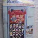 VTG Bucilla Lullaby Baby Collection Felt Applique Alphabet Wall Hanging 40362