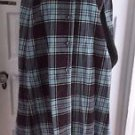 Vintage Courtaulds Courtelle Reversible Plaid Wool Cape & Skirt Set Outfit 24 XS