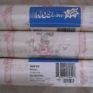 Lot of 3 KidsLine Bellissima Pink Roses Wallpaper Border 3 rolls 30 yds 8006WB