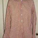 Mens Vintage 60s Christian Dior French Cuff Cufflink Ready Striped Dress Shirt M