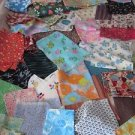 Vintage Lot 4 lbs Cutter Remnant Quilting Fabric Material Crafter Doll Clothes