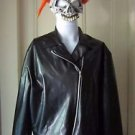 Halloween Costume Marvel Ghost Rider Mask & Faux Leather Jacket Disguise Adult M