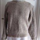 Mens Penobscot Bay Traders M Sweater Birds Eye Rag Wool Knit Cardigan Vintage