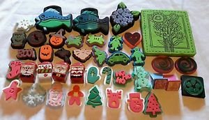 Huge Lot Foam Backed Chunky Rubber Stamps Scrapbooking Ink Paper Crafts