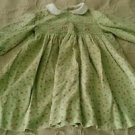 Girls The Plantation Shop brand 100% cotton corduroy green floral dress size 3