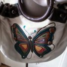 Relic Brand Butterfly Applique Woven Handbag Shoulder Cross Body Bag Purse