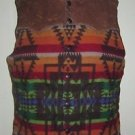 Polo Ralph Lauren Western Chief Indian Blanket Leather Wool Down Quilted Vest L