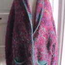 Knit One Crochet Too Mohair Oversized Shawl Collar Chunky Knit Sweater Jacket XL
