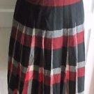 Vintage Reversible Pleated Tartan Plaid Wool Skirt Womens S Small Talon Zipper
