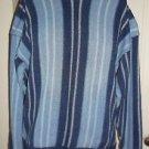 Vintage Saratoga Robert Peritz 100% Cotton Denim Blue Jean Look Sweater Mens M