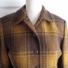 Womens Jones New York Lumberjack Plaid Cropped Riding Style Blazer Jacket sz 10