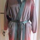 Vintage Handmade Mens Silk Satin Smoking Jacket Coat Robe Dressing Gown Sash M