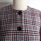 $189 Womens Talbots Petites Wool Houndstooth Collarless Cropped Blazer Jacket 2P