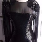 Criscione Heavily Sequined Peek A Boo Wiggle Formal Prom Pageant Dress S USA
