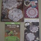 Doilies Crochet Manuals Patterns Books Classic Dainty Southmaid Pineapple Lot 4