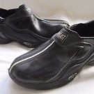 MENS EVERLAST BLACK CASUAL ATHLETIC SLIP ON GYM SHOES SNEAKERS 6.5 FAUX LEATHER
