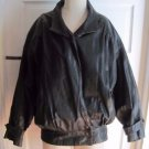 Gino Di Giorgio 90s 90s Black Leather Cafe Bomber Motorcycle Jacket Womens sz M