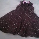 MAGGIE & ZOE Size 8 girls party DRESSY chocolate brown pink polka dots shirt