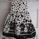 Girls 2T Rare Too Cotton Black & White Swing Flounce Tulle Floral Summer Dress