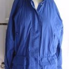 Womens M LL Bean Nylon Full Zip Snap Up Anorak Windbreaker All Weather Jacket