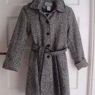 Girls Rothschild Hooded Flecked Mottled Wool Tweed Belted Winter Dress Coat 10