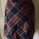 Womens LL Bean Petites Tartan Scotch Plaid Wool School Girl Swing Skirt 16P