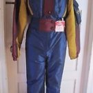 Vintage Nils Skiwear Colorblock Snowsuit One Piece Jacket Pants Womens 12 Dusty