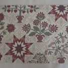 Quaker Downhome Autumn Fabric Samples Tapestry Folk Art Country Primitive Crafts