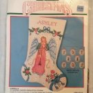 1990 Bucilla Christmas Ashley Stocking Counted Cross Stitch Kit #82828 18""