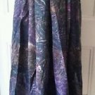 Geiger 100% Wool Feathers/Aninal Print Long Maxi Skirt womens size 42/12 Austria