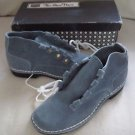 Mid Century Sears Blue Suede Chukka Moccasin Boots Womens 5.5 B The Shoe Place