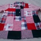 Roamans American Flag Patchwork blazer JACKET coat womens Medium 4th of July