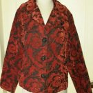 Habitat Clothes to Live In Tapestry Woven Brocade Jacket Blazer womens M USA