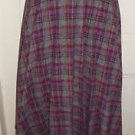 Vintage 1980s Liz Claiborne 100% Wool Pleated Maxi Long Skirt womens 12 Talon