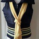 Womens DKNY Donna Karen New York Reversible Down Knit Full Zip Up Vest M Scarf
