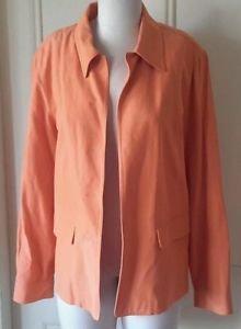 Dana B. & Karen Wrap Style blazer Jacket Womens size 8 Sherbet Apricot Linen and