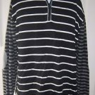 Mens XL Hanna Andersson Knit Cotton Patch Elbows 1/4 Zip Mock Turtleneck Sweater