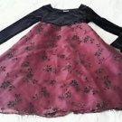 Girls Perfectly Dressed Velvet/Velour Tulle dressy Size 7 wine black Christmas
