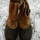 "Vintage Mens 10 Womens 12 Genuine LL Bean USA Duck Hunting Boots 6"" Maine USA"