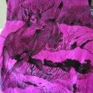 Buck Stag Deer San Marcos of Mexico Vintage Plush Fur Reversible Blanket 90x79
