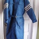 Windbreaker Fur Trim Racing Stripes Belted Snowsuit Insulated Coveralls Mens XL