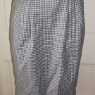 Womens Vintage Liz Claiborne Collection Checked Lined 100% Wool Skirt size 10