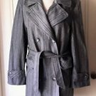 Vtg Davanna double breasted Belted Wool Jacket short Coat Blazer Womens L USA