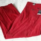 NWT Izod Easy Care Straight Flat Front Corduroy Pants Mens Size 38x30