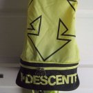 Vintage Descente 2 In 1 Nylon Conversion Backpack Fanny Pack 80s 90s Neon Yellow