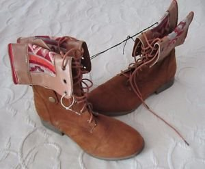 Chatties Southwest Southwestern Indian Blanket Print Calf Tall Boots Womens 9