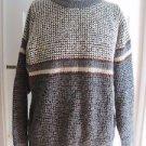 Vintage Fengz Fashion Sweater Colorblock Striped Popcorn Knit Sweater Mens L