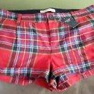 $68 A&F Abercrombie & Fitch Wool Tartan Scotch Plaid Short Shorts Womens size 0